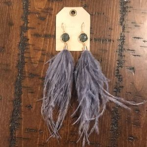 Brand new!!! Anthropologie feather earrings!!